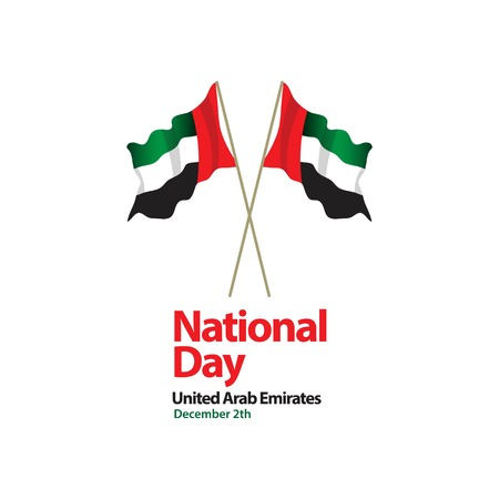 National Day United Arab Emirates Vector Template Design Illustration Ilustração