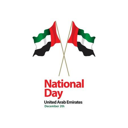 National Day United Arab Emirates Vector Template Design Illustration Illustration