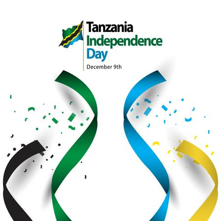 Tanzania Independence Day Vector Template Design Illustration Ilustrace