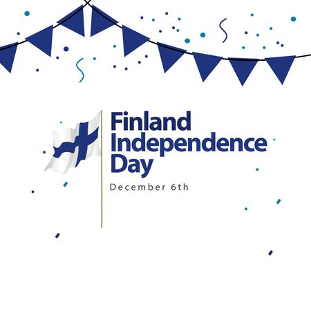 Finland Independence Day Vector Template Design Illustration