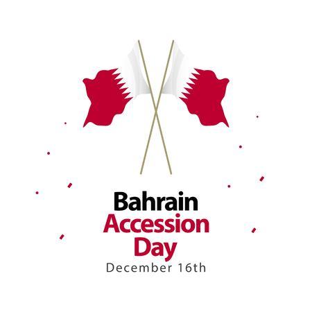 Illustration de conception de modèle de vecteur de jour d'adhésion de Bahreïn Vecteurs