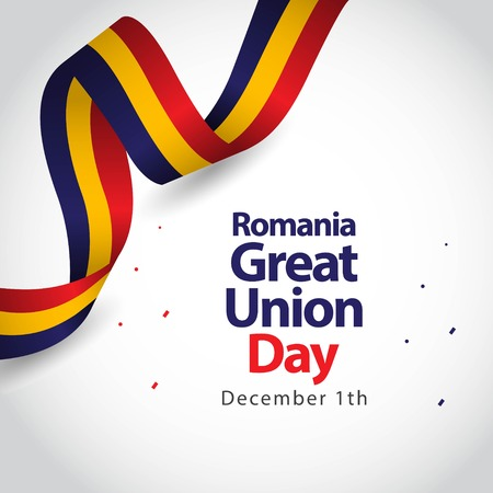Romania Great Union Day Vector Template Design Illustration Archivio Fotografico - 121259058