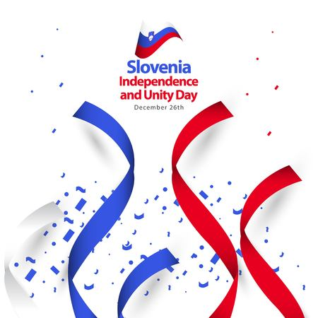 Slovenia Independence and Unity Day Vector Template Design Illustration