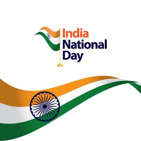 India National Day Vector Template Design Illustration Illustration