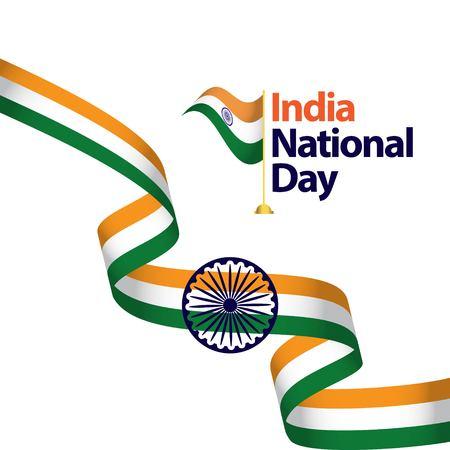 Illustration de conception de modèle de vecteur de la fête nationale de l'Inde