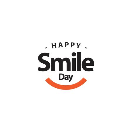 Happy Smile Day Vector Template Design Illustration Illusztráció