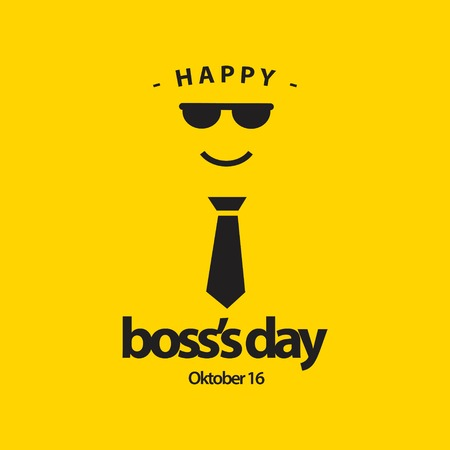 Happy World Boss's Day Vector Template Design Illustration