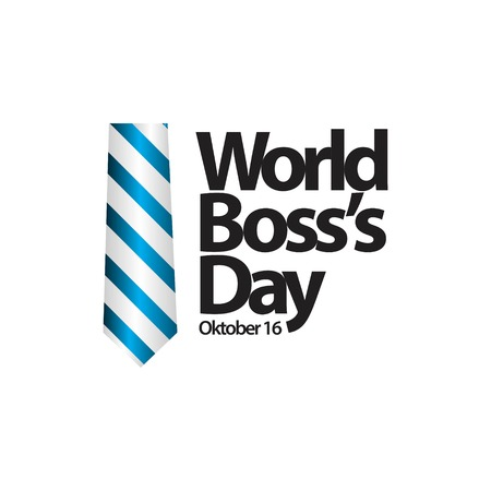 World Boss's Day Vector Template Design Illustration  イラスト・ベクター素材