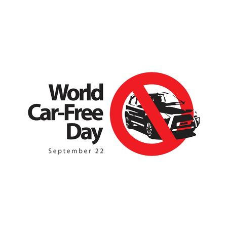 World Car Free Day Logo Vector Template Design Illustration Banque d'images - 122018943