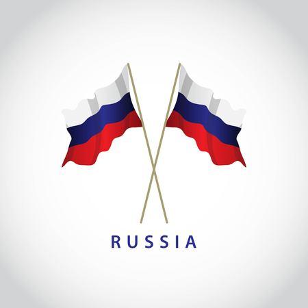 Russia Flag Vector Template Design Illustration