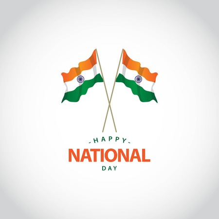 Happy India National Day Vector Template Design Illustration