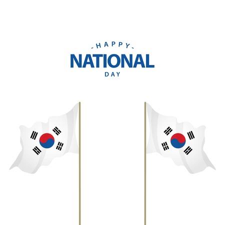 Happy Korea Republic National Day Vector Template Design Illustration Ilustração