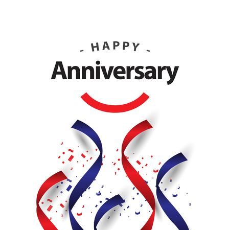 Happy Anniversary Vector Template Design Illustration