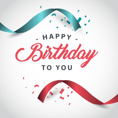 Happy Birthday to you Vector Template Design Illustration Stock Illustratie