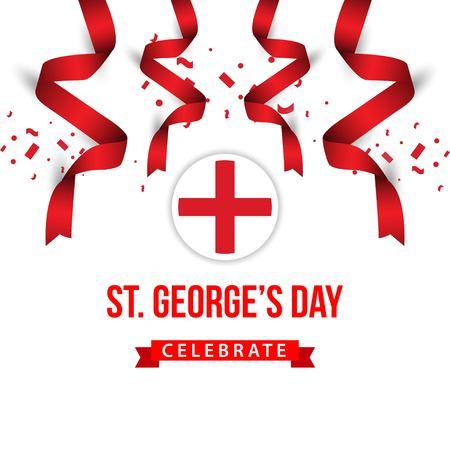 ST Georges Day Celebrate Vector Template Design Illustration