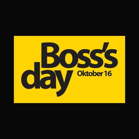 Boss's Day Vector Template Design Illustration