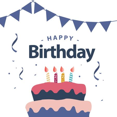 Happy Birthday Vector Template Design Illustration