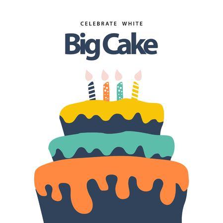 Big Cake Vector Template Design Illustration