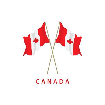 Illustration de conception de modèle de vecteur de drapeau du Canada
