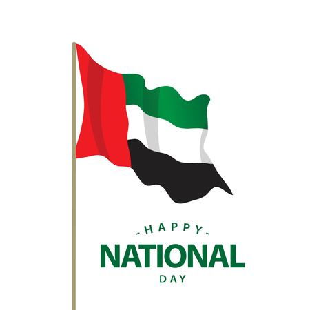 Happy UAE National Day Vector Template Design Illustration