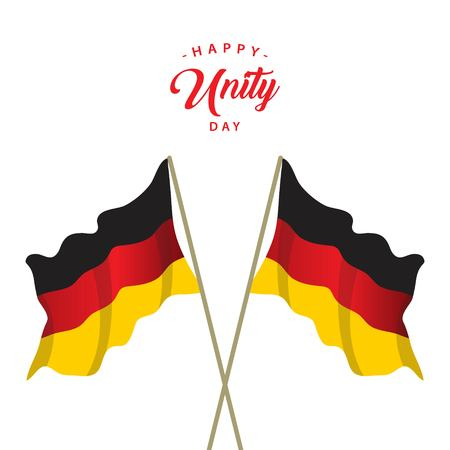 Happy Germany Unity Day Vector Template Design Illustration