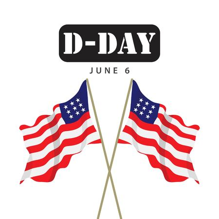 D-Day Vector Template Design Illustration