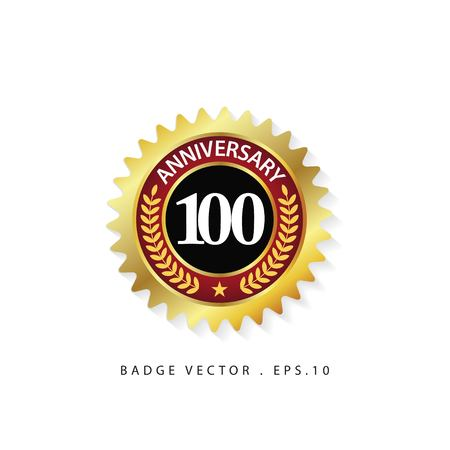 Anniversary 100 Vector Template Design Illustration