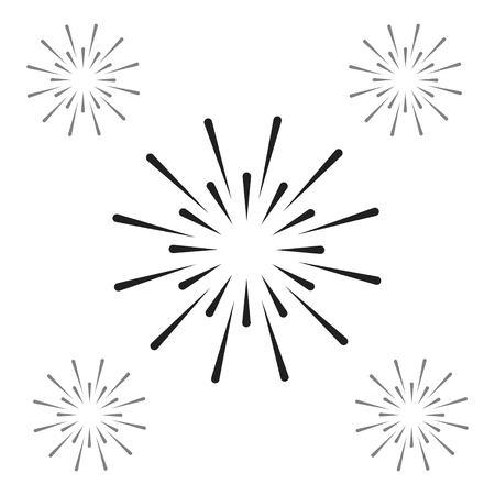 Fireworks Vector Template Design Illustration Vecteurs