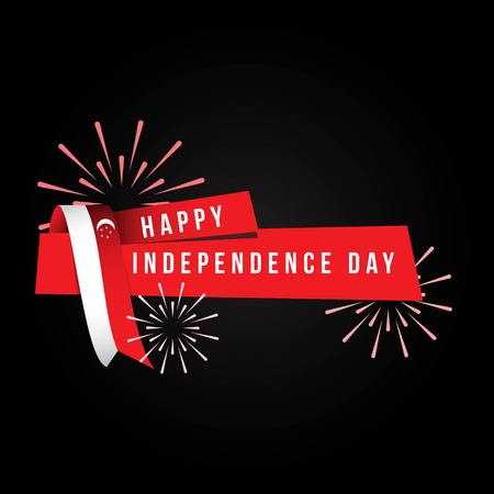Happy Singapore Independence Day Vector Template Design 일러스트