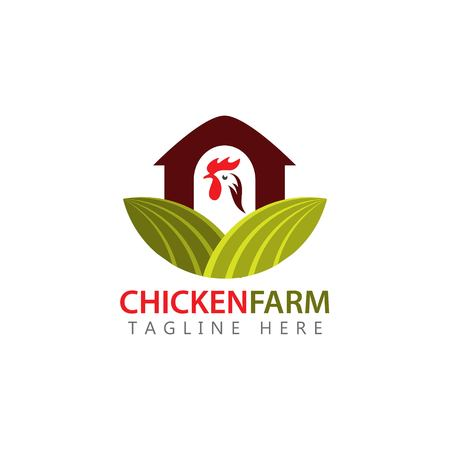Chicken Farm Logo Vector Template Design Illustration