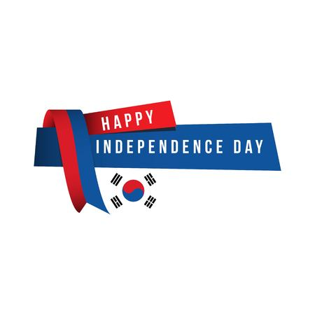 Happy Korea Republic Independent Day Vector Template Design Illustration Çizim