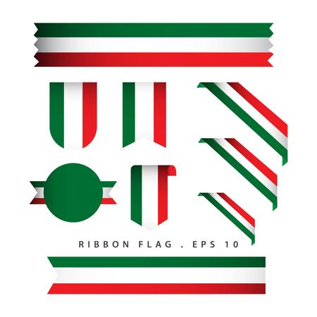 Italy Ribbon Flag Vector Template Design Illustration