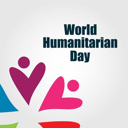 World Humanitarian Day Vector Template Design Illustration Imagens - 122327445
