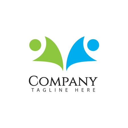 Human Logo Company Vector Template Design Illustration