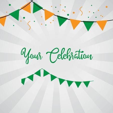 Your Celebration Vector Template Design Illustration Illusztráció