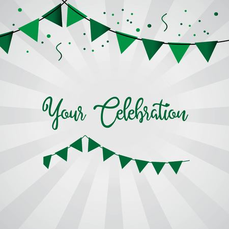 Your Celebration Vector Template Design Illustration 向量圖像