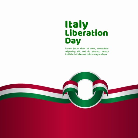 Italy Liberation Day Vector Template Design Illustration 向量圖像