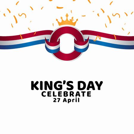 King's Day Celebrate Vector Template Design Illustration Ilustração