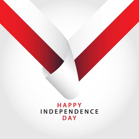Happy Poland Independence Day Vector Template Design Illustrator Çizim
