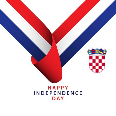 Happy Croatia Independence Day Vector Template Design Illustrator
