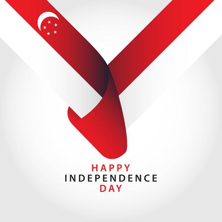 Happy Singapore Independence Day Vector Template Design Illustration