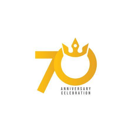 70 Years Anniversary Celebration Vector Template Design Illustration 일러스트