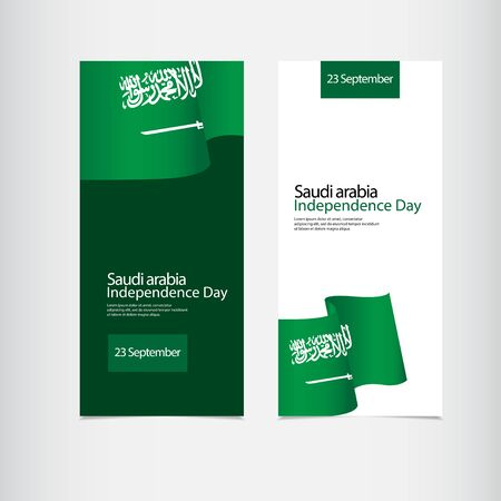Saudi Arabia Independence Day Vector Template Design Illustration