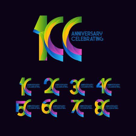 100 Years Anniversary Celebrating Vector Template Design Illustration