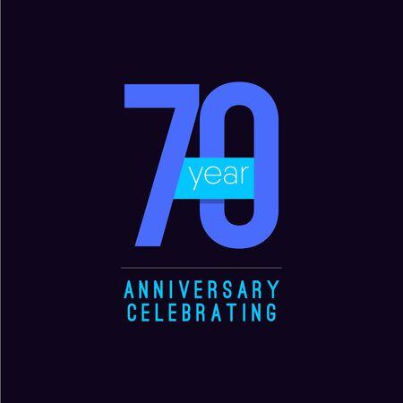 70 Years Anniversary Celebrating Vector Template Design Illustration