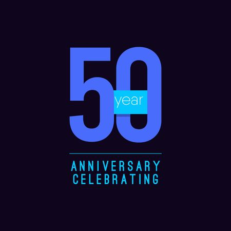 50 Years Anniversary Celebrating Vector Template Design Illustration 일러스트