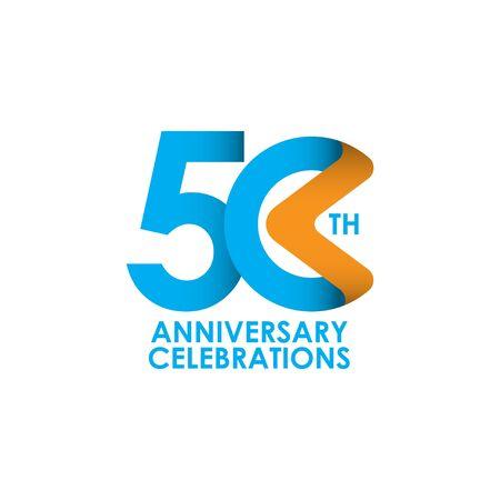 50 ans anniversaire célébrant l'illustration de conception de modèle de vecteur