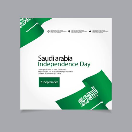 Saudi Arabia Independence Day Vector Template Design Illustration