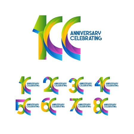 100 Years Anniversary Celebrating Vector Template Design Illustration