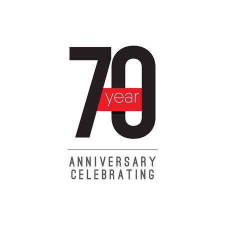 70 Years Anniversary Celebrating Vector Template Design Illustration
